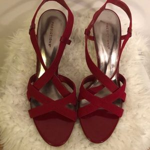 Predictions Gorgeous Red Strappy Sandals